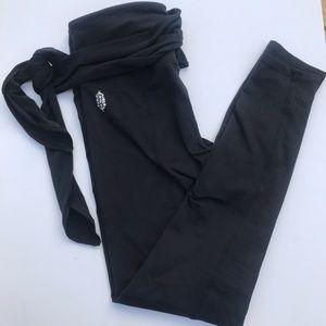 Free People Ursa Washed Black Tie Legging, Sz XS